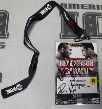 Dan Henderson & Babalu Signed StrikeForce Staff Credential Pass PSA/DNA COA UFC