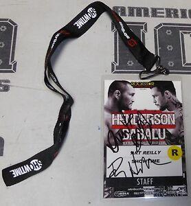Dan Henderson & Babalu Signed StrikeForce Staff Credential Pass PSA/DNA COA UFC