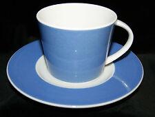 Mitterteich Porzellan 2 tlg Kaffee/Tee Gedeck Pastellblau-Weiß Geschirr