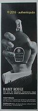 GUERLAIN PUBLICITE DE 1966 FRENCH AD ADVERT HABIT ROUGE EAU DE COLOGNE PUB