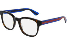NEW GUCCI Mens Havana Blue Transparent Stripe Eye Glasses Frame GG 0005O 003 5O