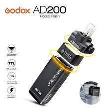Godox 2.4 TTL Double Head AD200 Outdoor Pocket Flash 2900mAh Battery Speedlite