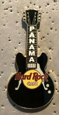 HARD ROCK CAFE  PANAMA..CLOSED..BLACK GIBSON BYRDLAND GUITAR PIN..UNUSED