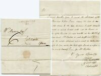 GB ESSEX 1813 CHELMSFORD MILEAGE in RED to COLCHESTER MASON 6d PAID