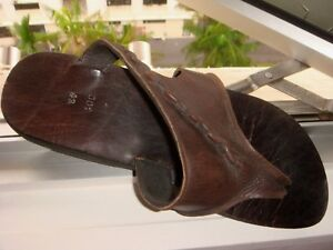 Nice Used Handmade Leather and Rubber Sandal, Only One!