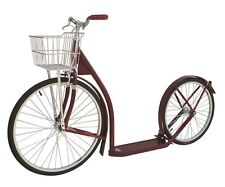 "24/20"" ADULT SCOOTER - MAROON Genuine Amish Red Kick Bike USA MADE"