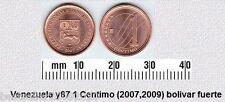 VENEZUELA 1 CENTIMO UNC COIN # 2132