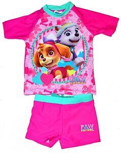 NEW SZ 2-6 KIDS SWIMSUIT BATHERS GIRLS PAW PATROL TRUNK BEACH TOG SWIMWEAR POOL