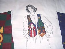 Dreamspinners Vip Fabric Panel Christmas Vest Santa Noel Cotton