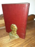 Pair Vintage President Abraham Lincoln Abe Figure Decorative Bookends Doorstop