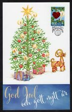 Aland Islands: Christmas 2018 Maximum card, with heart tree decoration stamp