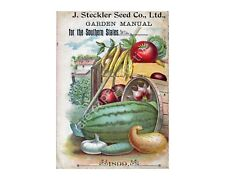 """Antique Kitchen & Garden Wall Art, Two 5"""" x 7"""" Prints, Seed Pack Catalog Covers"""
