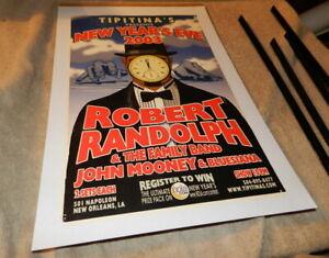 Tipitina's Poster New Year's Eve 2003 Robert Randolph & John Mooney & Bluesiana