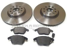 VW EOS 1.4 1.6 2.0 TSI FSI TDI FRONT 2 BRAKE DISCS AND PADS (CHECK SIZE 312MM)