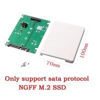 "M.2 SSD NGFF (B Key) to 2.5"" SATA 7mm HDD Enclosure Case Converter Adapter white"