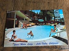 New listing Swimming Pool Scene Garni Lodge Lake Tahoe California Postcard