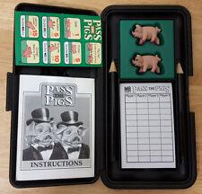 Vintage Milton Bradley Pass the Pigs w/ Original Carrying Case & Score Sheets