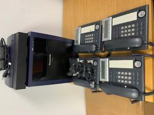 Panasonic KX-TDE 100 & KX-TVA 50 Voice Processing System w/4 KX-DT343 Refurbish