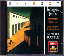 Sir Simon Rattle: Debussy grafica images King le Roi Lear EMI CD cbso 1990