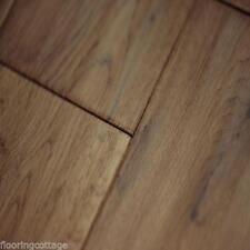Solid 18mm x 150mm Hand Scrapped Tobacco Oak Wood Flooring