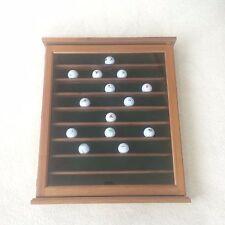 "Wood Wooden Golf Ball Holder ~25.5""x21.5"" Holds 81 Golf Balls Door Locks EUC"