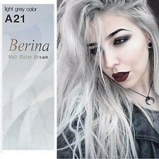 Berina Salon Manic Panic Color Permanent Hair Dye Cream Color no.A21 Light Grey