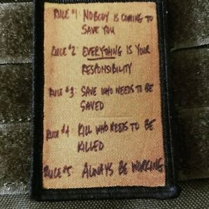 Killhouse Rules Morale Patch Tactical Military USA Hook Badge Army Flag