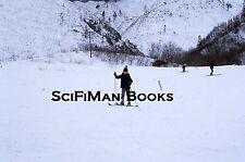 KODACHROME 35mm Slide Japan? Cute Boy Skiing Snow Hats Gloves Fashion 1972!!!