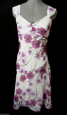 Nwt SPEECHLESS Chiffon Formal Dress 3 Purple White floral Vneck Empire A-line