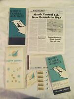 1968 North Central Airlines Timetable Plastic Case NewsletterTicket and Folder +