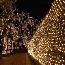 210 LED 3m x 2m  Clear Net Lights Fairy Lights Outdoor Party Christmas 8 Modes