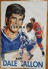 1970-71 Coca Cola Hockey Stars Poster Dave Tallon - Vancouver Canucks Pelkowski