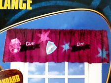 1 New Disney Camp Rock Burgundy Pink Window Valance