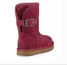 NIB UGG REMORA Buckle SZ 6 Girl's SZ 4 Sheepskin *Retail $160* WARM & PRETTY!!!