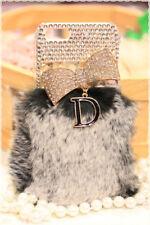 Cover custodia rigida fiocco con strass in cristallo e pelo per iphone 4 e 4s