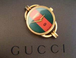 Genuine Vintage GUCCI 6000 Women's Gold Watchcase. Fully Working.