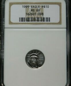 1999 1/10 oz. P$10 Platinum Eagle coin NGC MS69 Better Early Date BEST PRICE