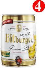 4x Bitburger Premium Pils 5 Liter Partyfass 4,8% vol 3,19€/L