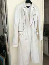 Ralph Lauren White Trench Coat Size 12