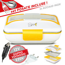 SPICE Amarillo Inox Trio PLUS Scaldavivande portatile Doppio Voltaggio 220V 12V