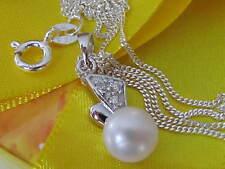 Echtschmuck-Halsketten & -Anhänger im Collier-Stil aus Sterlingsilber Zirkon