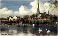 1912 Stempel CHEMNITZ auf AK Schloss Blick zur Kirche Verlag Martin & Fsicher
