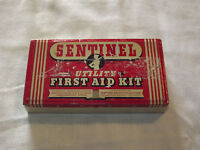 VINTAGE ADVERTISING SENTINEL UTILITY FIRST AID KIT TIN *EMPTY