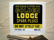 Fitted With GOLDEN LODGE Spark Plugs Engine STICKER 40mm Sunbeam Bentley Service