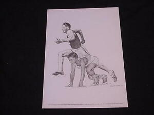 1963-73 Equitable Life Sports Print FRANK WYKOFF - Track