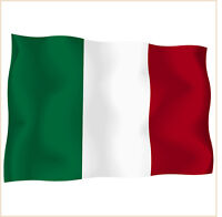 sticker stickers decal vinyl decals national flag car ITALY  ensign