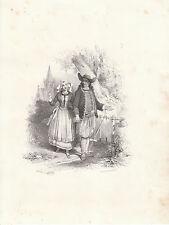 """Gravure Litho ancienne  XIXème """"  Jules David - Lith Formentin & Cie"""