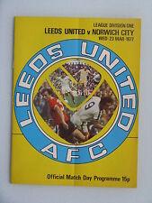 Leeds United v Norwich City - Division 1 - 1976/77 - Free pp(UK)