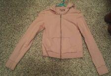 Women's Levis Hooded Light Pink Zipper Long Sleeve Knit Cardigan Sweater-size S