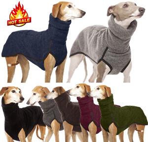 Pet Dog Clothes Greyhound Whippet Lurcher Jumper Warm High Neck Winter Sweater